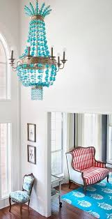 turquoise beaded chandelier 25 inspirations turquoise chandelier lighting chandelier ideas