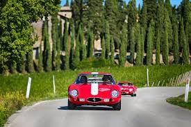 rally ferrari ferrari celebrates the 55th birthday of 250 gto with rally to