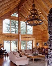 Great Room Chandeliers Lighten Up Your Log Home Real Log Homes