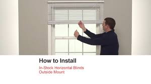 bali blinds how to install in stock horizontal blinds outside