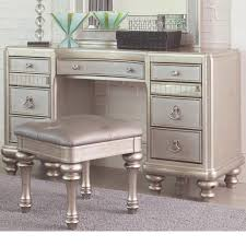Desk Game by Coaster Bling Game Vanity Desk With 7 Drawers And Stacked Bun Feet