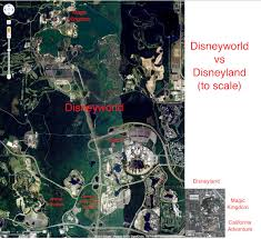 Disney World Google Map by How Much Bigger Disneyworld Is Vs Disneyland Todayilearned