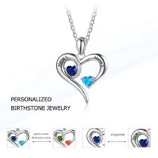 personalized birthstone jewelry personalized 925 sterling silver 2 birthstone necklace pendants