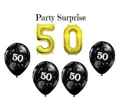 50th birthday balloons 50th birthday party balloons 50 gold air filled number