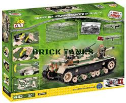 lego army tank stug iv sd kfz 167 cobi compatible with lego cannon brick set