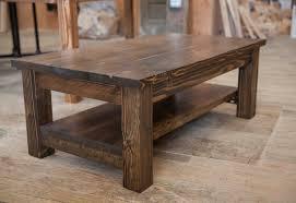 Rustic Walnut Coffee Table Farmhouse Coffee Table Rustic Coffee Table Solid Wood