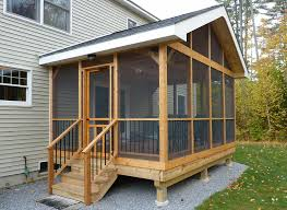 Screened In Porch Plans Exterior Screen Tight With Screening In Front Porch Also Roof