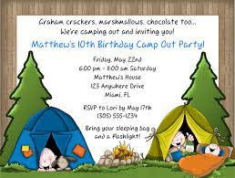camping birthday party invitations stephenanuno com