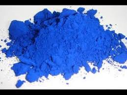 making blue colored babypowder chunks youtube