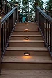 solar powered lights illuminate steps or deck u2026 pinteres u2026