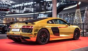 chrome gold ferrari 2016 audi r8 v10 plus gets official chrome gold wrap autoevolution