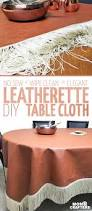 Coffee Table Cloth by Diy Leatherette Tablecloth No Sew Tutorial Moms And Crafters