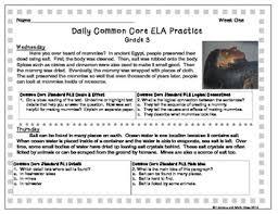 grade 3 daily common core reading practice weeks 1 5 lmi tpt