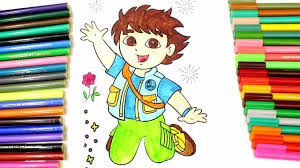 dora and diego coloring book dora the explorer coloring game