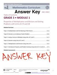grade 3 mathematics engageny eureka math grade 3 module 1 answer key by mathvillage