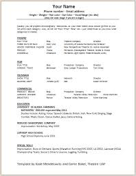 free acting resume template free acting resume template vasgroup co