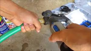 how to remove stuck nozzle off of garden hose youtube