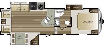 Thor Fifth Wheel Floor Plans by New Or Used Fifth Wheel Campers For Sale Camping World Rv Sales