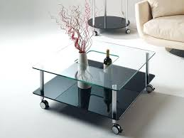 round coffee table with casters side table side table on casters glass coffee with wheels round