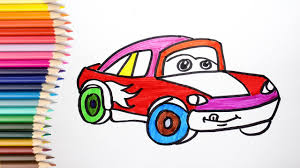 kid car drawing how to draw mcqueen cars coloring pages kids songs learn drawing