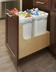 pull out trash can cabinet kitchen recycling u0026 waste bin