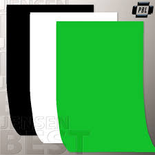 black white and chroma key green screen backgrounds for
