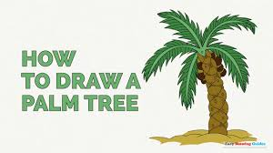 how to draw a palm tree easy step by step drawing tutorial youtube