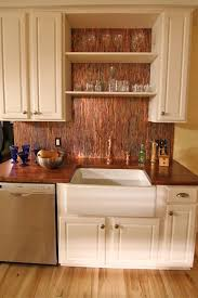 Unique Backsplash For Kitchen by Best 25 Copper Backsplash Ideas On Pinterest Reclaimed Wood
