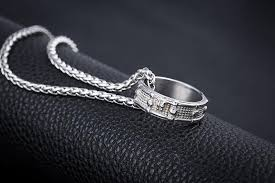 jewellery ring necklace images Snare drum ring necklace cool dad things jpg