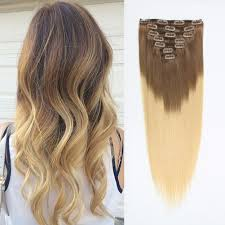 ombre clip in hair extensions clip in hair extension ombre bronde t 6 613
