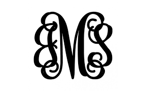 three letter monogram metal boutiques 3 letter monogram monograms let us personalize