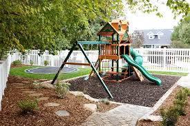 Backyard Playground Slides Our Backyard Playground Part Ii The Reveal And Budget Breakdown