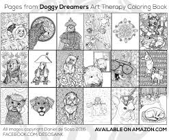 doggy dreamers art therapy coloring book dream deluxe