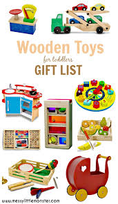 wooden toys gift list ideas for