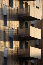 facade and balcony detail wood and fibre cement combined
