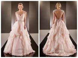 cap illusion sleeves asymmetrical ruched bodice a line wedding