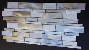 brushed aluminum u0026 textured white carrera mosaic tile kitchen