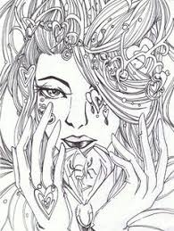 hard fairy coloring pages for adults printable in tiny print image