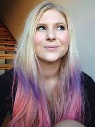 How To Wash Hair Color Out - i really want to do this except reverse the pink and purple