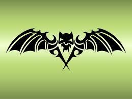 bat tattoo design vector art u0026 graphics freevector com