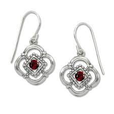 garnet earrings sterling silver verona genuine garnet earrings jh breakell co