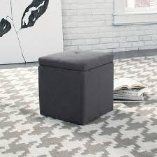 lovely gray storage ottoman chatsworth brown grey fabric storage