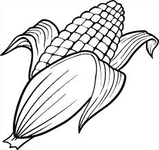 coloriage à imprimer un épi de maïs dory fr coloriages