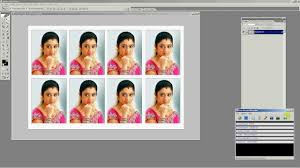 maxi size how to make 8 passport size photos in one maxi size in photoshop