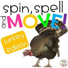 spin spell and move turkey thanksgiving edition by polka dots