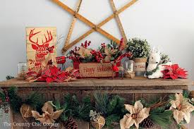 Images Of Mantels Decorated For Christmas Christmas Mantel Decorating Ideas The Country Chic Cottage