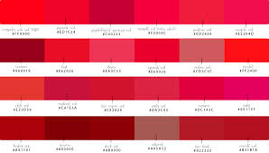 shades of computer reds and their hex codes just red blog series