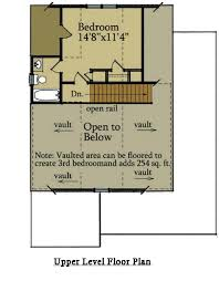 2 bedroom cabin plan with covered porch little river cabin