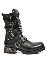 biker boot style biker boots m mr019 s1 gothic steampunk metal punk