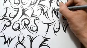 tattoo designs for letters how to draw a tribal font youtube
